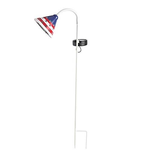 ExcMark Solar Garden Decorative Stake Lights American Flag