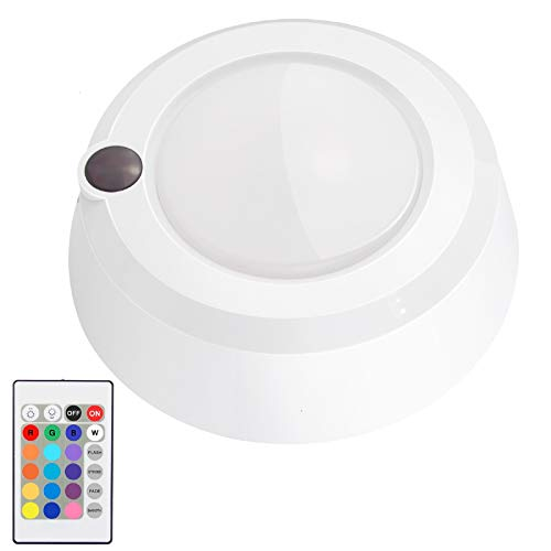 Battery Powered Ceiling Light Dimmable Shower Light with Remote