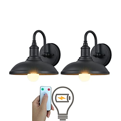 Black Wall lamp Led Remote Control Battery Operated