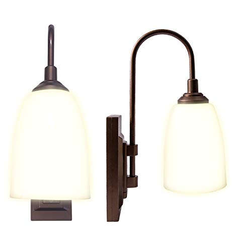 Westek Battery Operated Wall Sconce, 2 Pack