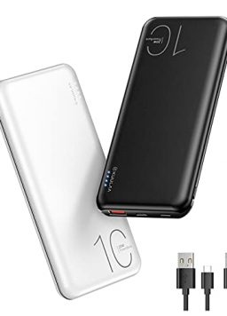 10000mAh Portable Charger Ultra-Compact Battery