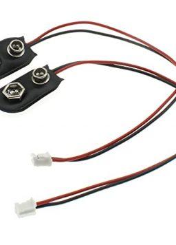 LBTODH 9V Battery Clip Connector 2PCS I-Type 9 Volt