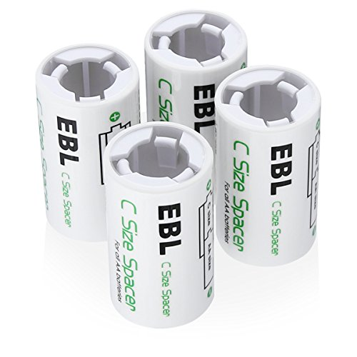 AA to C Size Battery Spacer Converter Case Use