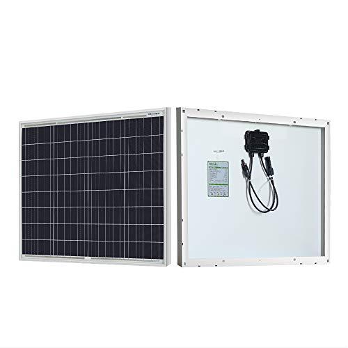 HQST Solar Panel 50 Watt 12 Volt Polycrystalline Portable