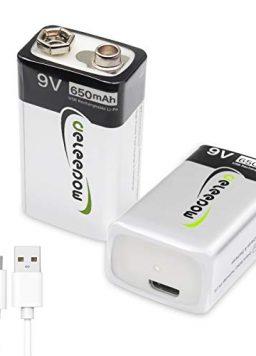 9V USB Rechargeable Battery 9V Batteries Long Lasting