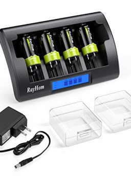 RayHom Universal Charger with C Batteries