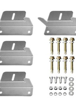 HQST Solar Panel Mounting Z Brackets with Nuts and Bolts