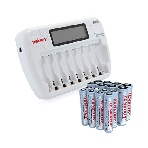 Rechargeable Batteries 8-Bay Smart LCD AA/AAA NiMH/NiCd Charger