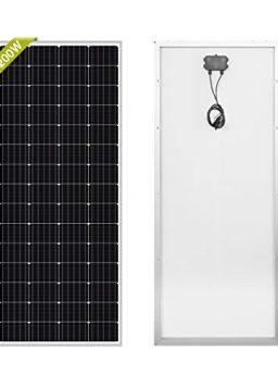 Newpowa 200W Monocrystalline 200 Watt 12V Solar Panel
