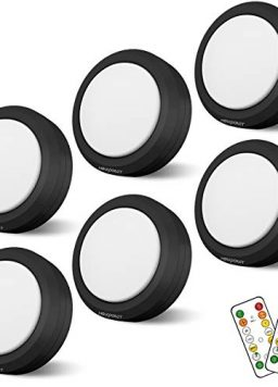 Puck Lights with Remote Control Battery Operated