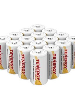 Tenergy D Size 5000mAh NiCd Button Top Rechargeable Batteries