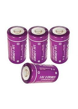 D Cell Battery 3.6v Lithium Battery 19000mAh 4 Counts