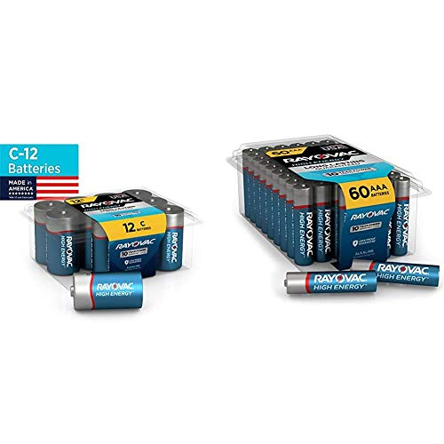 Rayovac C Batteries, Alkaline C Cell Batteries