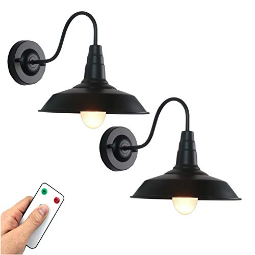 Battery Operated Wall Sconce with Remote 400 Lumens Rechargeable