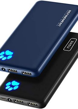 [2 Pack] INIU Portable Charger, Slimmest, Lightest Triple 3A USB