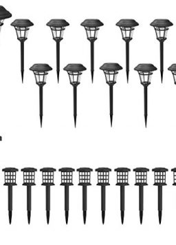 MAGGIFT 12 Pack Solar Powered Pathway Lights