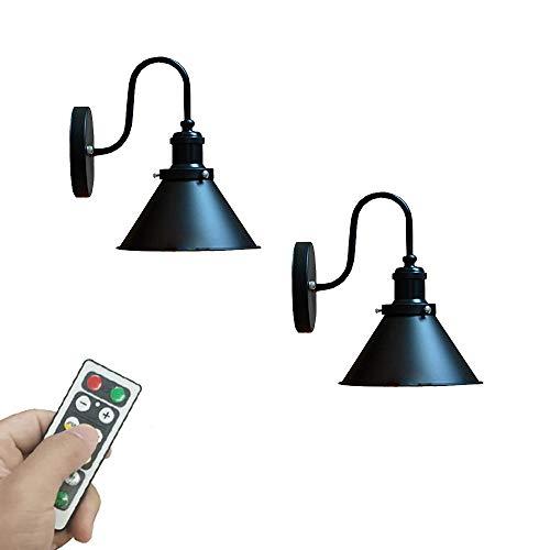100 Lumens Led Remote Control Battery Run Cordless Lamp Retro