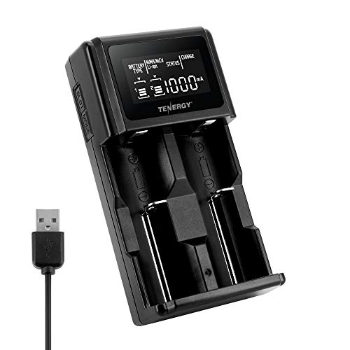 Tenergy 2-Bay Universal Battery Charger with LCD