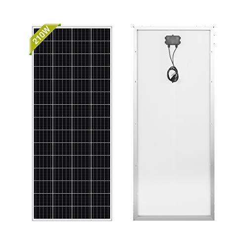Newpowa 210W Monocrystalline 210 Watt 12V Solar Panel