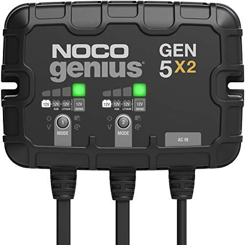 NOCO Genius GEN5X2, 2-Bank, 10-Amp (5-Amp Per Bank)