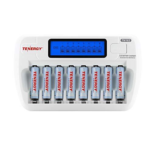 Combo: Tenergy TN162 8-Bay Smart AA/AAA NiMH/NiCd Charger