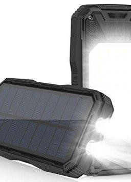 Solar Charger 26800mAh, Portable Solar Power Bank USB