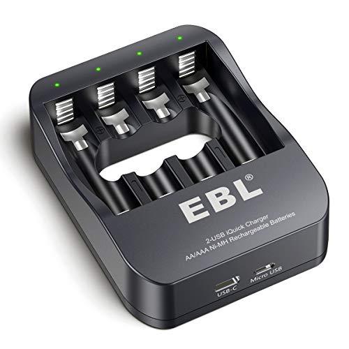 EBL Smart AA AAA NiMH Rechargeable Battery Charger