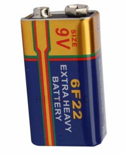 Hillflower 8 pcs 6F22 Bulk 9V Carbon Zinc New Battery