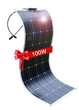 DOKIO Semi-Flexible Solar Panel 100W 12V Bendable