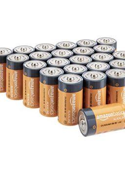 Amazon Basics 24 Pack D Cell All-Purpose Alkaline Batteries