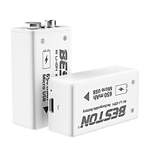 BESTON 9V Rechargeable Batteries