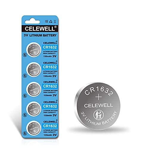 CELEWELL CR1632 Battery Lithium 3v for Garmin Vivofit