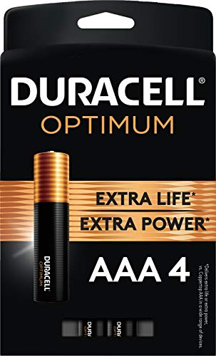 Duracell Optimum AAA Batteries   4 Count Pack