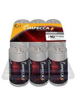Impecca C Batteries High-Performance Alkaline C Cell Battery