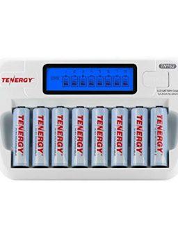 8-Bay Smart LCD AA/AAA NiMH/NiCd Charger + 8 AA NiMH Rechargeable Batteries