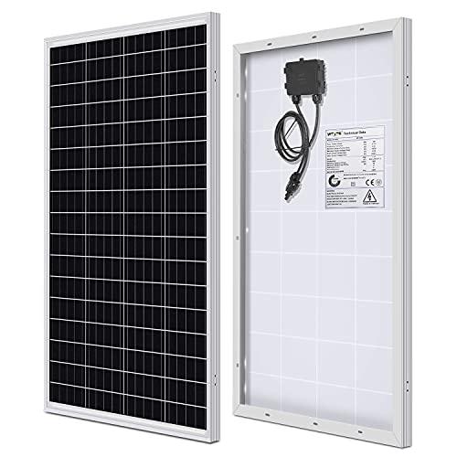 WEIZE 100 Watt 12 Volt Solar Panel, High Efficiency