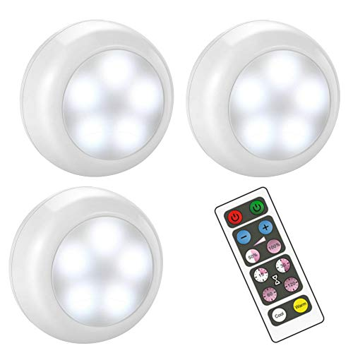 BLS Wireless Dimmable LED Puck Lights with Remote Control