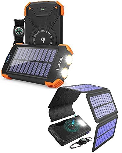 10,000mAh Solar Power Bank for Daily Use Plus 20,000mAh