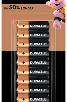 AA 24 Batteries Coppertop Duracell
