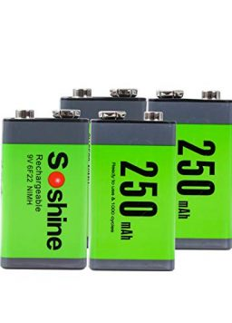 Rechargeable 9v Batteries for Smoke Detector/Alarms