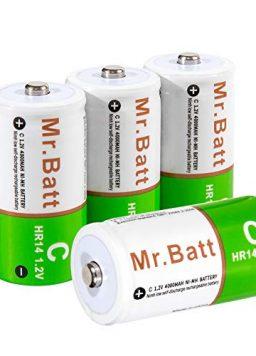 Rechargeable C Batteries 4000mAh