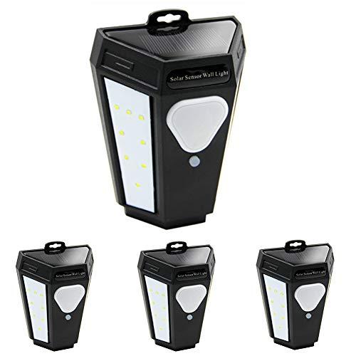 MAGGIFT 4 Pack Solar Motion Sensor Step Lights Outdoor