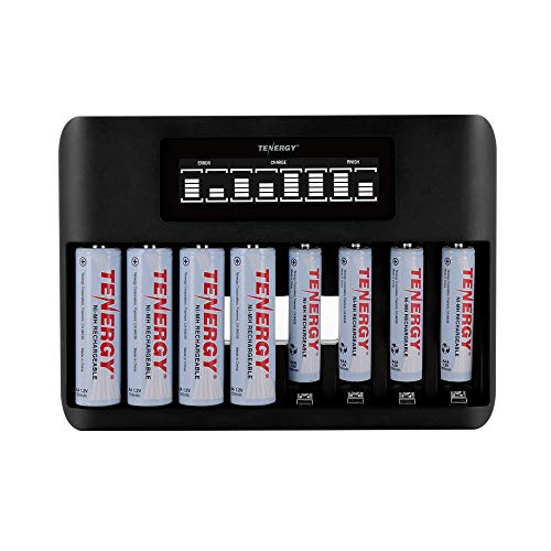 Tenergy 8-Bay LCD Display Fast Charger