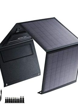 40W Foldable Solar Panel with USB QC 3.0, 12-15V DC Output