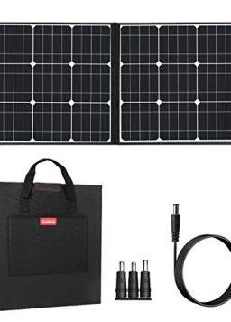 50W 18V Portable Solar Panel, Flashfish Foldable Solar Charger