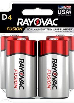 Premium Alkaline D Cell Batteries (4 Battery Count)