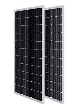 Renogy Solar Panel 2pcs 100 Watt 12 Volt Monocrystalline