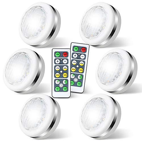 LED Puck Lights with Remote Battery Operated
