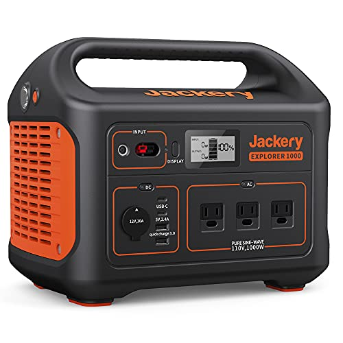 Jackery Portable Power Station Explorer 1000, 1002Wh
