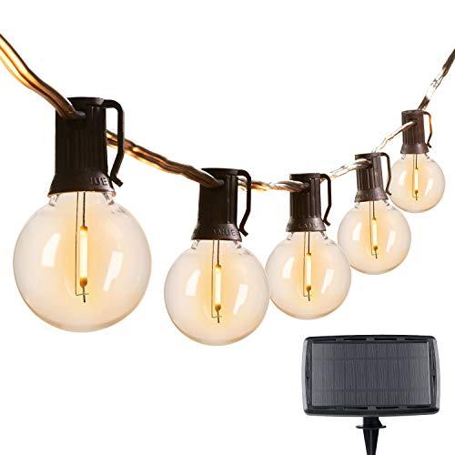 29Feet Solar String Lights Outdoor G40 Patio Lights